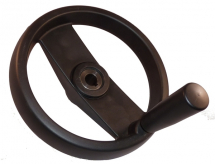 HANDWHEEL 80mm DIA TWO-SPOKE POLY PROP 8mm BORE